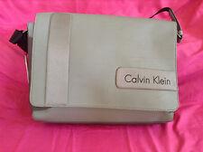 Calvin Klein Gibson Messenger Travel Bag Pebble NWT Nice Color