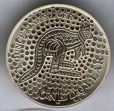 Australia 2001 1 dolar 1 onza plata pura CANGURO