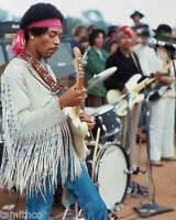 Jimi Hendrix Woodstock 1969 8x10 Photo 002