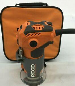 Ridgid R24012 5.5 Amp Corded 1-1/2 Peak HP Compact Handheld Hand Router, GRM