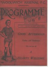 WOOLWICH ARSENAL F.C. V LEICESTER FOSSE SEPT 6TH 1913 REPLICA PROGRAMME 2013