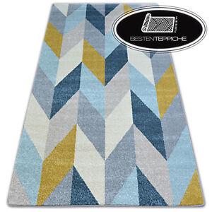 8 Größen Modernen Weich Teppich NORDIC TANNE gelb blau creme angenehm modisch