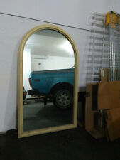 """Wood Framed Mirror, Curved or Arched Top: Wall or Floor, 29 x 48"""""""