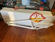 """S&M 24 INCH STEEL PANTHER RACE FRAME WHITE 22 22"""" 24"""" BMX SPEED WAGON CRUISER"""