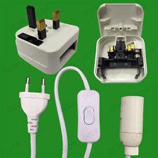 E14 SES Plug-in Lamp Holder, Inline Switch, Salt, Selenite Table Lamp Cord Lead