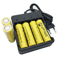 6X18650 Li-ion Battery 3.7V 9800mAh Rechargeable Flat Top & EU Plug 4.2V Charger