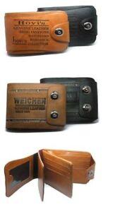 Soft Luxury Leather Mens Wallet Black & Brown Bifold Credit Card  Holder Purse
