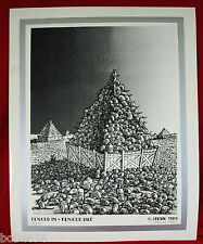 1984 FENCED IN - FENCED OUT Signed JIM FRANKLIN JFKLN Armadillo PRINT 72/150