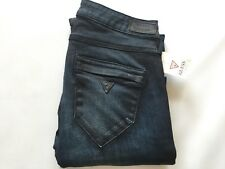 Guess Women's Low Rise Skinny Jeans Ankle Zip In Conquest Coated Wash Size 27