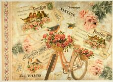 Rice Paper -Vintage Voyage- for Decoupage Decopatch Scrapbook