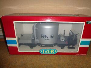LGB 4025 RhB Mohrenkopf Zementsilowagen Neuwertig OVP