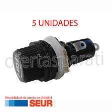 x5 Portafusible 30mm Plastico 10A 250VAC 15A 125VAC Porta Fusible Negro