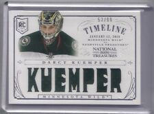 DARCY KUEMPER 2013-14 PANINI NATIONAL TREASURES ROOKIE TIMELINE JERSEY 53/99
