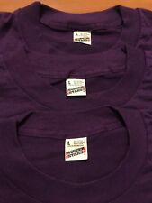 Lot of 3 Vintage NOS Plain Blank purple Screen Stars T-Shirt 50/50 DEADSTOCK 80s
