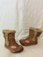 Girls Clarks Brown Leather Boots Size 6G