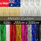 2mx1m Metallic Tinsel Curtain Foil Party Christmas Door Decoration Shiny String