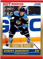 EVGENY DADONOV 2010-11 Score Rookies and Traded Gold #596 ($0.75 MAX SHIP)
