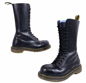 Dr Martens Boots 1914 1940 14-Eye Black Leather Vintage Mid Calf Womens 5 Mens 4