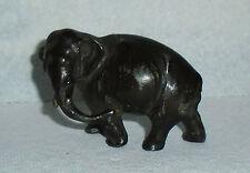 Antique Solid Cast Lead Full Figural Elephant Excellent Antique Cond. Free Ship.