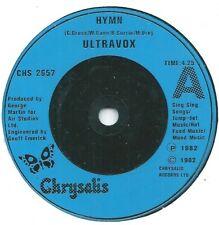 "Ultravox  Hymn   7"" Vinyl 45rpm 1982 Chrysalis"