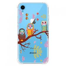 AMZER Soft Gel Clear TPU Case for iPhone Xr - Owls On Branch