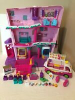 Shopkins Shoppies Shopville Super Mall Playset Doll House and Ice Cream Truck