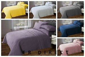 Designer Look Quilted Luxury Bedspread Comforter Throw Bedding Set Pillow Shams