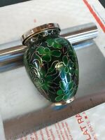 Ceramic Inlay Vintage Trinket Tray Jewelry Holder Case Container Screw Lid...