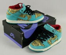 Nike Dunk Mid Premium SB Peacock 2007 Skate Shoes Size 10 EUC Boxed 314381 331