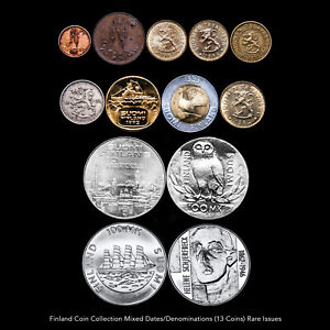 FINLAND COIN COLLECTION (13 COINS) MIXED DATES / DENOMINATIONS RARE ISSUES