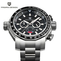 Luxury PAGANI DESIGN Steel Band Waterproof Chronograph Men Quartz Wrist Watch