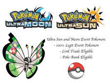 Pokemon Ultra Sun and Moon Region Specific Colorful Vivillon Fancy Pattern
