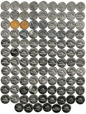 1922~2018 CANADA 105 x 5¢ Nickels All Years except 1925,26-Varieties, No Doubles