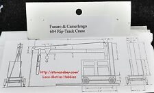 Funaro F&C 604  RIP TRACK CRANE  Repair Inspect Paint HOIST Yard Enginehouse MOW