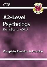 A2-Level Psychology AQA A Complete Revision & Practice by CGP Books (Paperback,