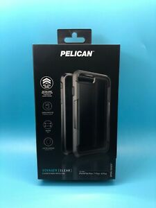 Pelican Voyager iPhone 6 Plus, 6s Plus, 7plus, 8 Plus Case w/Holster Clear/Grey