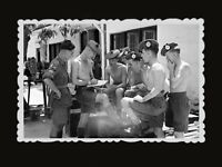 1950s Vintage Hong Kong Photo B&W Soldier British India Army War Training #485