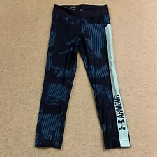 Under Armour Heatgear compression ladies fitness trousers in blue - XS size