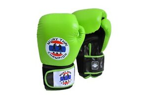 Twins Inspired GENUINE Leather Fancy Muay Thai Boxing Gloves Signature 9 Colours