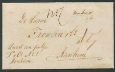BRIEF AMSTERDAM - ARNHEM 9 NOV 1859,GESCHR.ANNEX EEN PAKJE F.C.no1 ARNHEM  Zi146