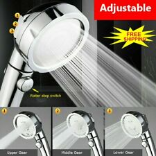 Shower Head 3 Modes High Pressure Water Saving Showerhead Handheld Bath Sprayer