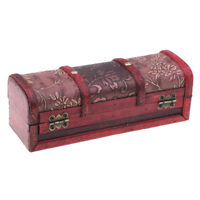 Chinese Vintage Style Wooden Jewelry Box Hairpin Storage Display Case Boxes