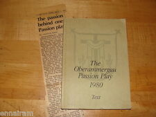 Oberammergau Passion Play Text 1980 + 1984 newspaper clipping