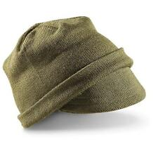 Italian Military Surplus Item - New LA GRIFFE Wool Jeep Cap - Green / TG.II