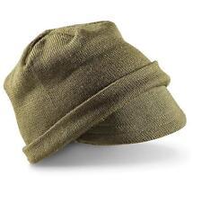 Italian Military Surplus Item - New LA GRIFFE Wool Jeep Cap - Green