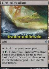 2x Blighted Woodland (Verheertes Waldland) Battle for Zendikar Magic