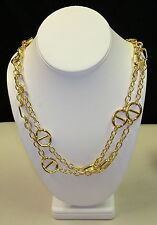 1AR by UnoAerre - 18KT Gold Plated Fancy Chain Long Necklace Anchor Pattern