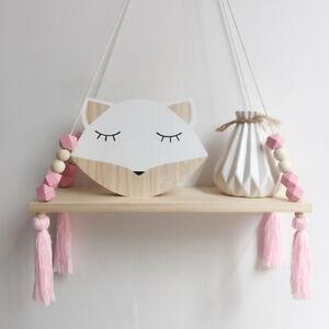 1Pcs Colorful Beads Tassel Wooden Shelf Wall Clapboard Decoration Display StaBI