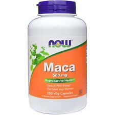 Maca -250 -500mg Capsules by Now Foods - Energising Herb for Reproductive Health