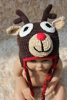 New Knit Crochet Infant Baby Kids Deer Elk Hat Cap Beanie Newborn Photo Prop Hat